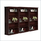 Mayline Toscana Wall Bookcase with Five Shelves in Mahogany