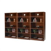 Mayline Sorrento 5 Shelf Wall Bookcase in Bourbon Cherry