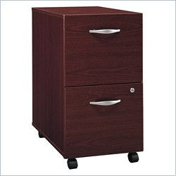Bush Furniture Series C 2 Drawer Vertical Wood Mobile File Cabinet in Mahogany