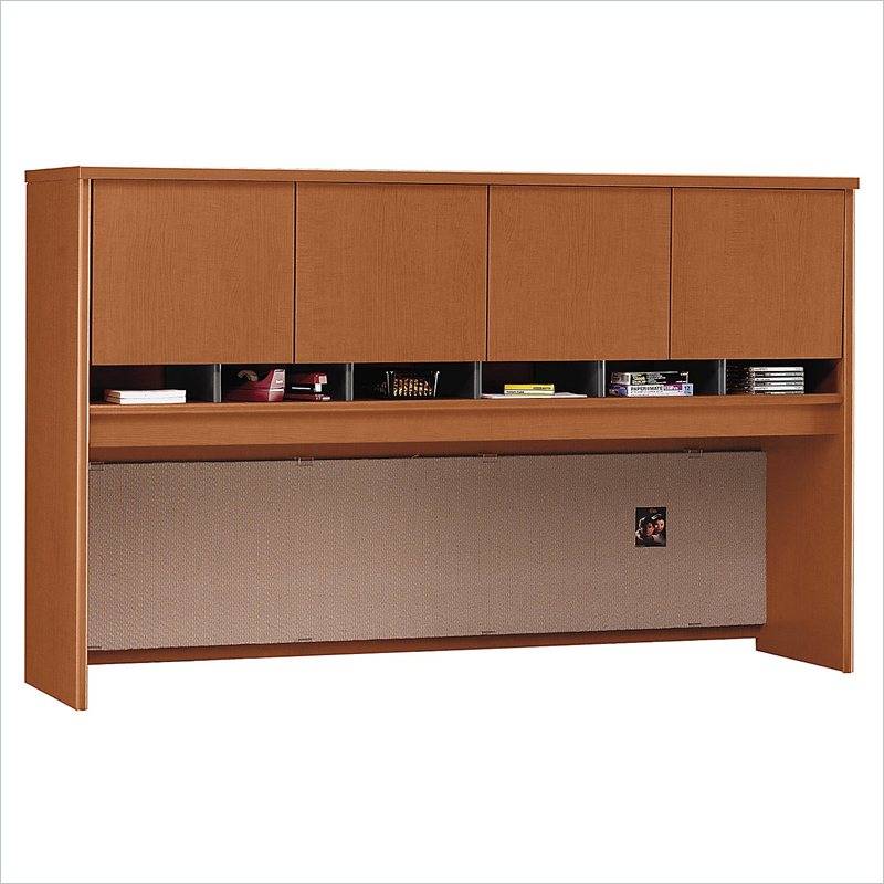 "Bush Series C 71"" Four Door Wood Computer Hutch in Auburn Maple at Sears.com"