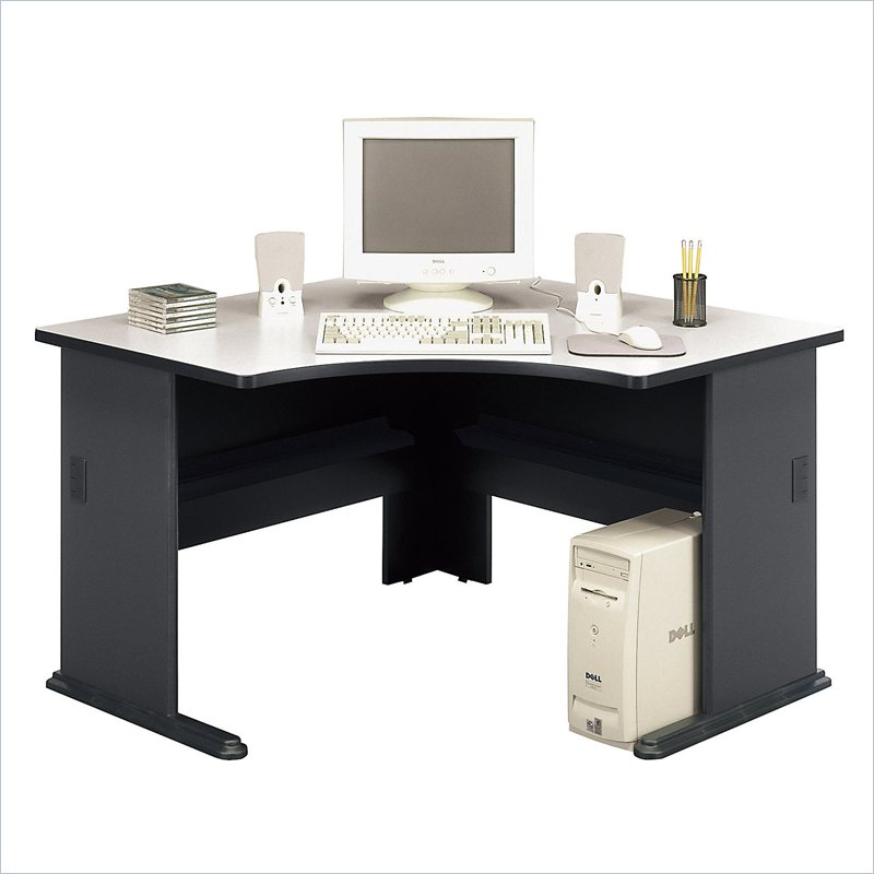 "about Bush Furniture Office Pro 48"" Corner Wood Slate Computer Desk"