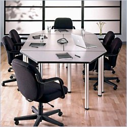 Bush Furniture Aspen Octagonal 8.9' Conference Table in White Spectrum