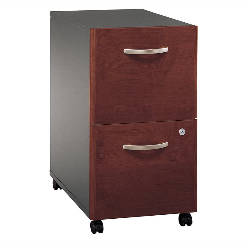 Bush Series C 2 Drawer Vertical Mobile Wood File Cabinet