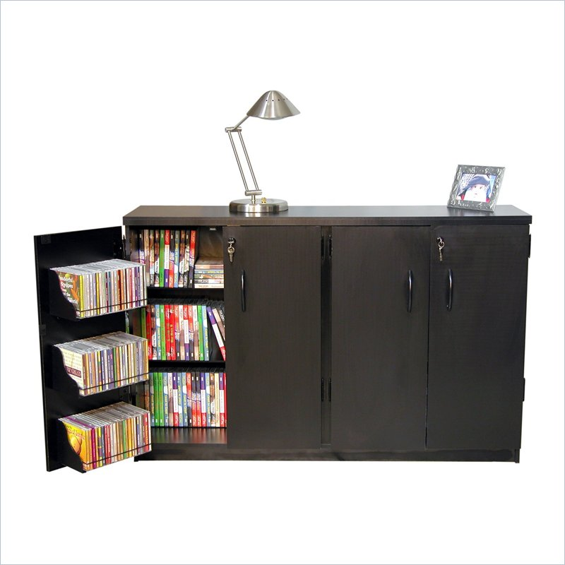 Venture Horizon Basic Double Wide CD,DVD Media Storage Cabinet - Oak at Sears.com