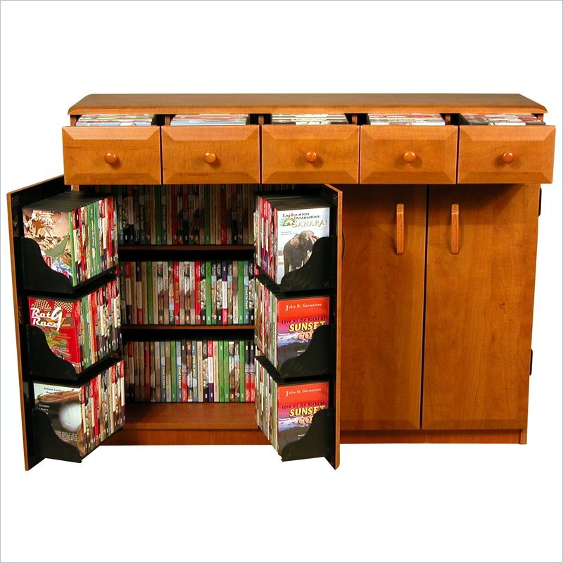 Venture Horizon CD DVD Media Storage Cabinet With Drawers - Oak,Black at Sears.com