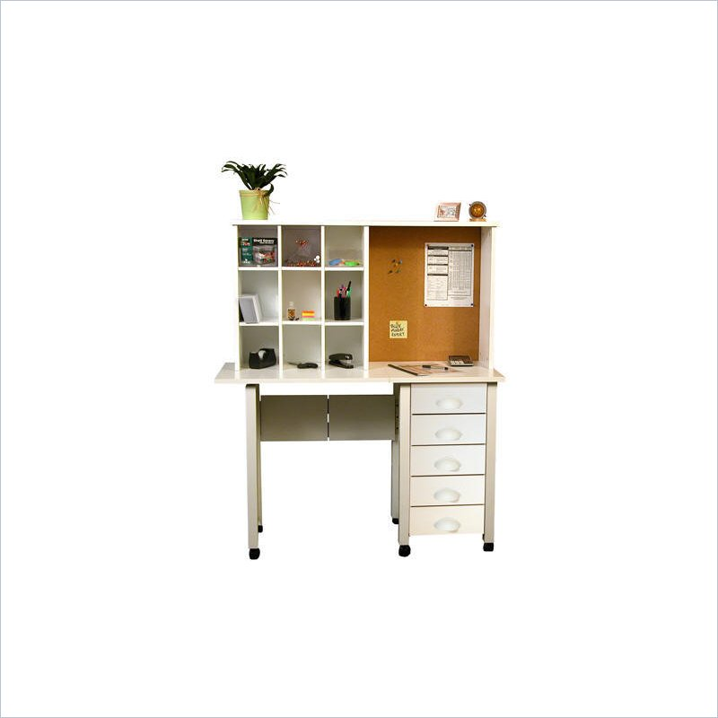 Venture Horizon White Computer Desk Hutch - Black at Sears.com