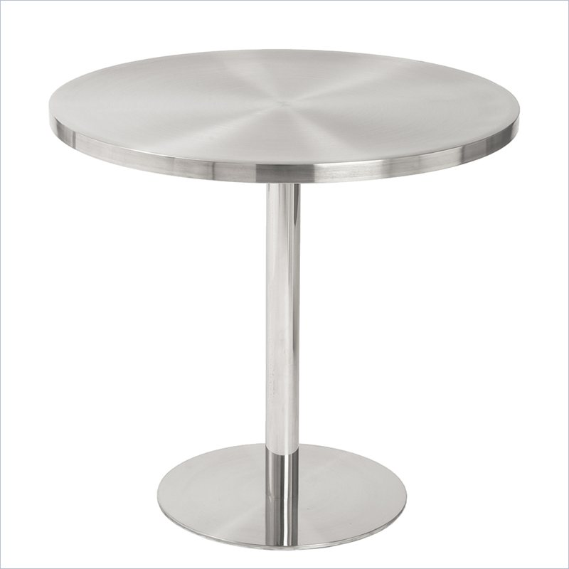 Eurostyle Caitlin Round Bistro Table in Stainless Steel at Sears.com