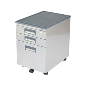 Eurostyle Edsel Low Metal Mobile 3 Drawer File Cabinet