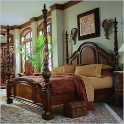 Pulaski Casa Cristina Poster Bed in La Habana Finish