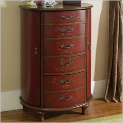 Pulaski Accents Jewelry Chest in Ruby