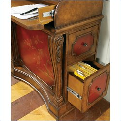Pulaski Accents Secretary Desk in Brown/Red