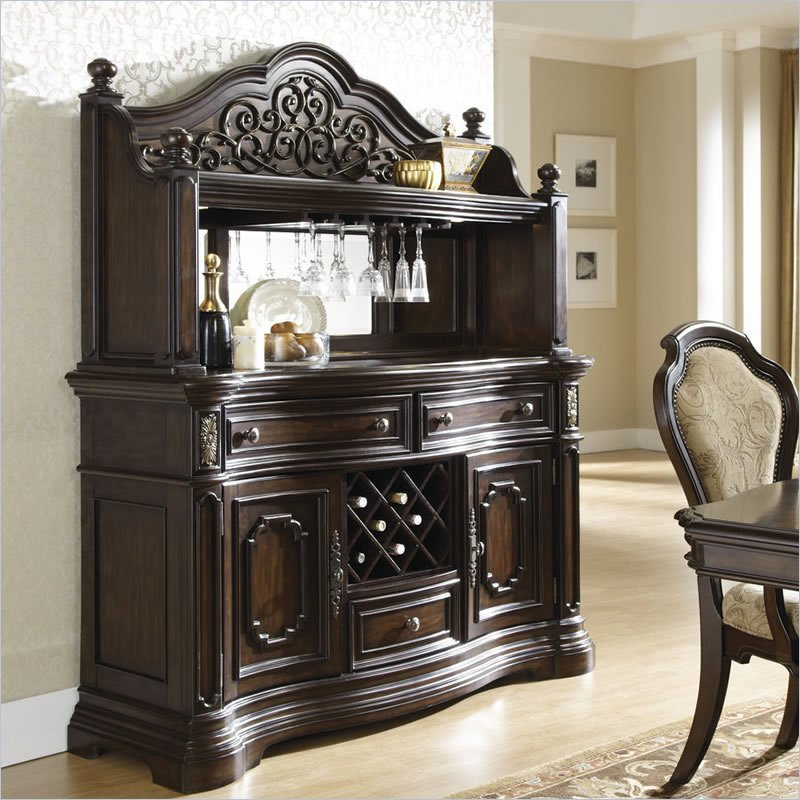 Pulaski Cassara Buffet with Hutch in Cordovan at Sears.com