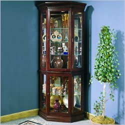 Pulaski Victorian Cherry Corner Curio