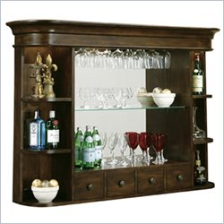 Howard Miller Niagara Hutch Back Bar in Rustic Cherry