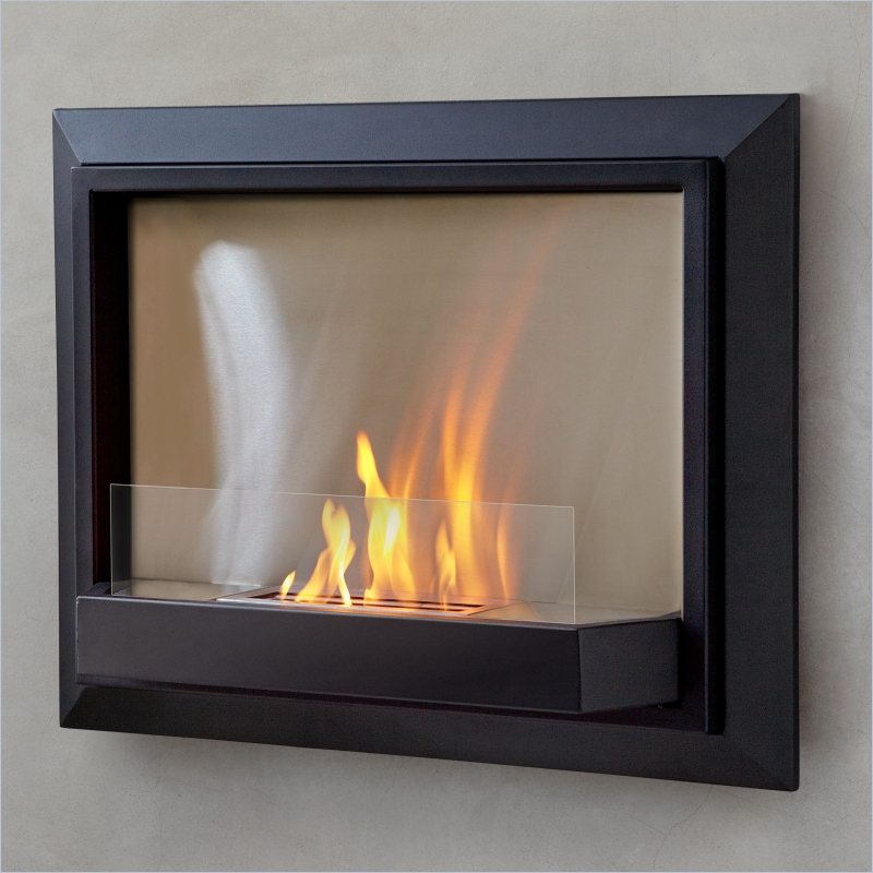 Real Flame Envision Ventless Wall Mounted Gel Fireplace in Black - Grey at Sears.com