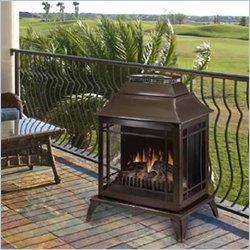 Dimplex Spectra Outdoor Electric Free Standing Metallic Brown Fireplace Display