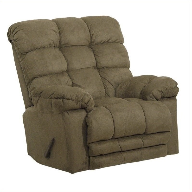 Magnum Chaise Rocker Recliner Chair in Sage - 546892222015