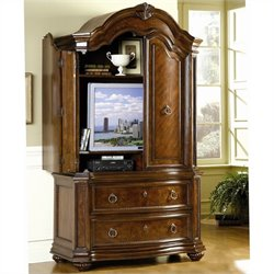 Homelegance Prenzo TV Armoire in Warm Brown Finish