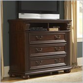 Homelegance Silas TV Chest in Rich Cherry