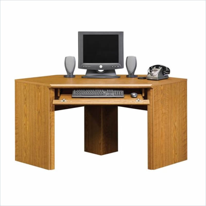 sauder orchard hills small corner wood carolina oak computer desk ebay. Black Bedroom Furniture Sets. Home Design Ideas