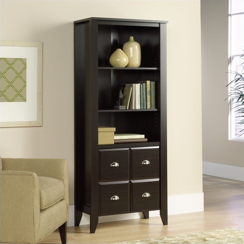 Sauder Shoal Creek Library with Doors in Jamocha Wood at Sears.com