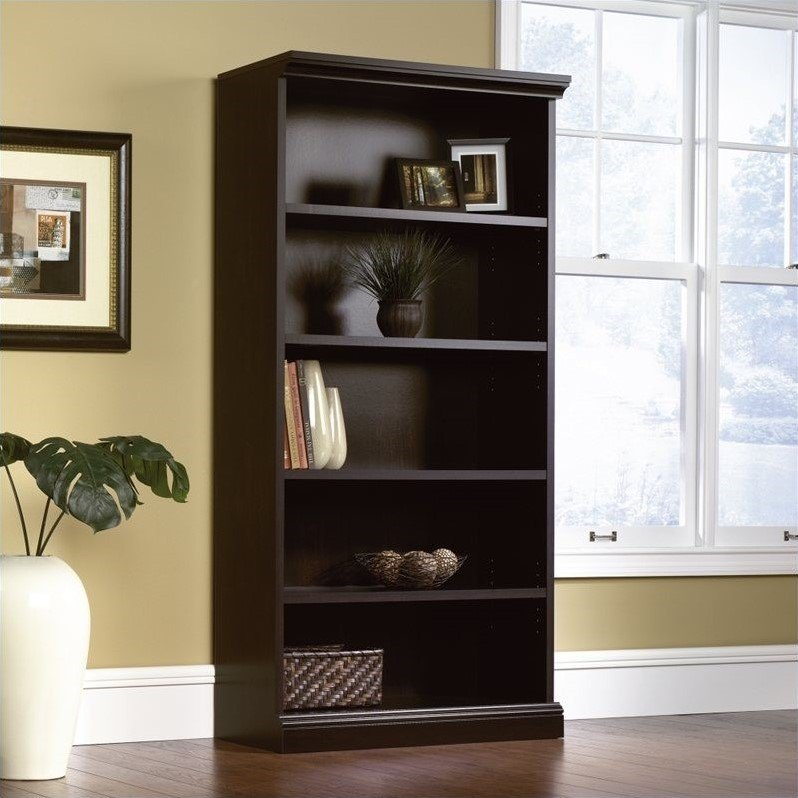 Sauder Select Library 5 Shelf Bookcase in Estate Black at Sears.com