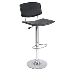 Winsome Spectrum Single Air Lift Adjustable Stool in Black
