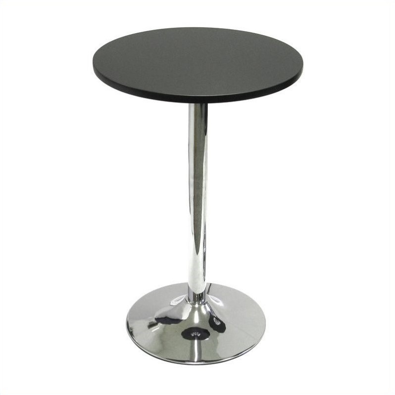 "Winsome Spectrum 20"" Round Casual Bistro Table in Black and Chrome Finish at Sears.com"