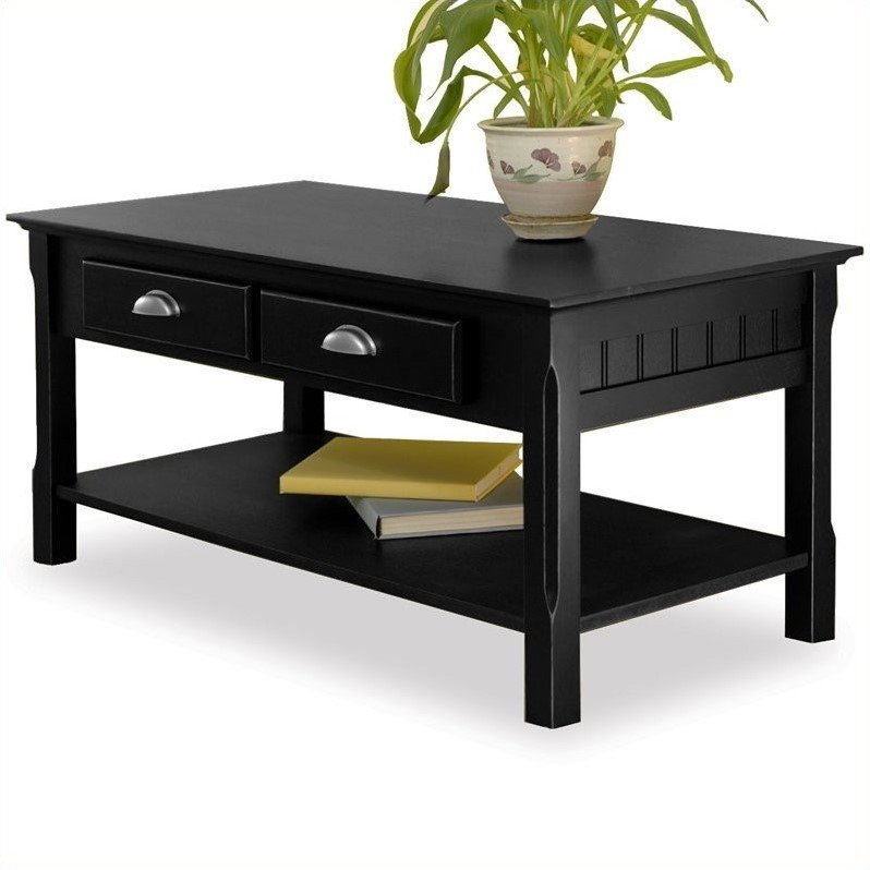 Winsome Timber Solid Wood Black Coffee Table 021713202383