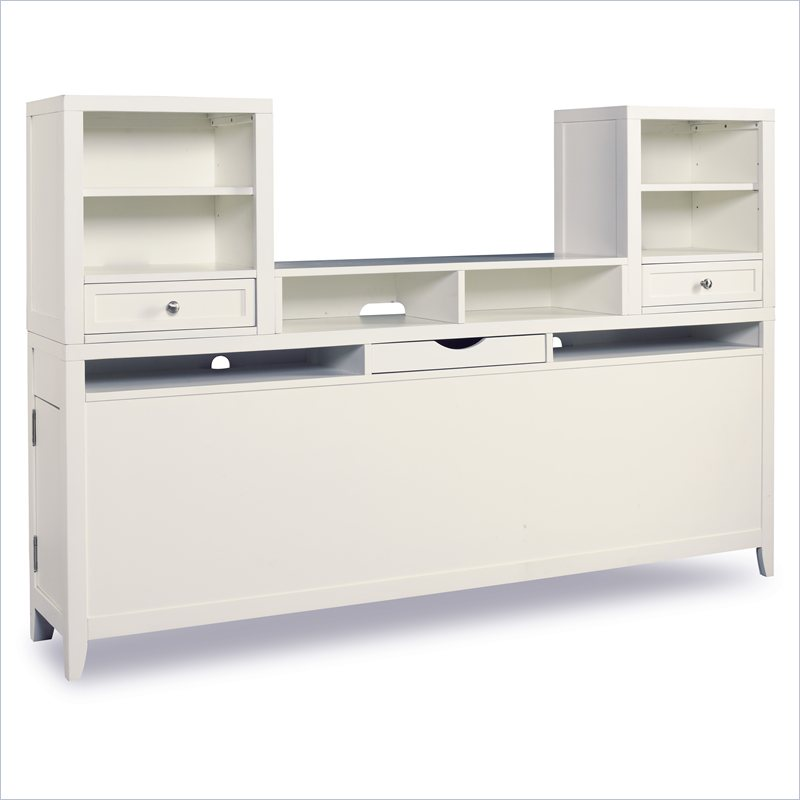 Hooker Furniture Lily Bedside Console with Component Box and Piers in Eggshell White at Sears.com