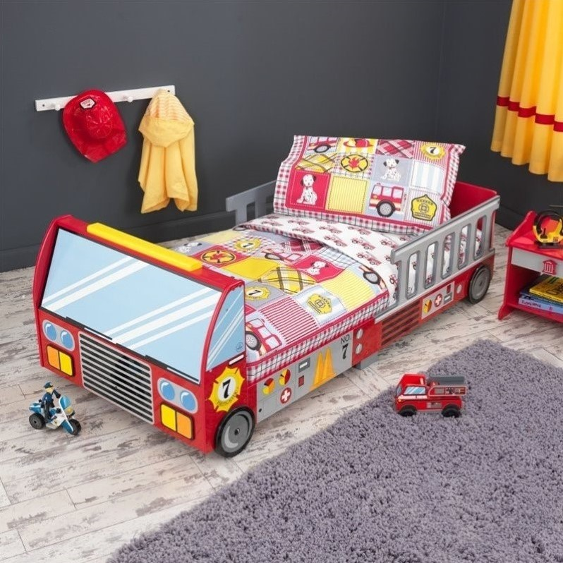 KidKraft Fire Truck Toddler Bed at Sears.com