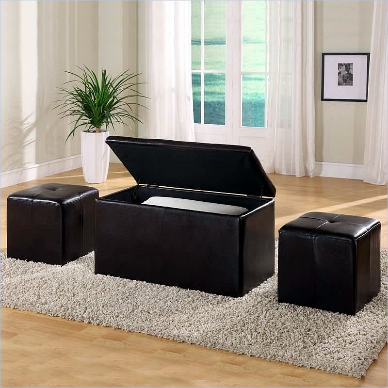 Modus Urban Seating 3 In 1 Storage Bench Ottoman Chocolate