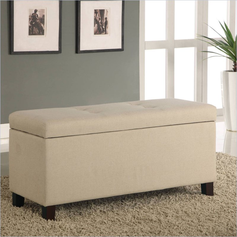 furniture urban seating storage bench natural linen bedroom benche
