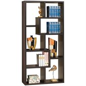 Coaster Contemporary Asymmetrical Cube Bookcase in Deep Cappuccino Finish