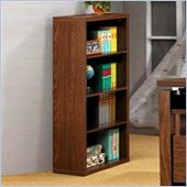 Coaster Four Shelf Bookcase in Oak