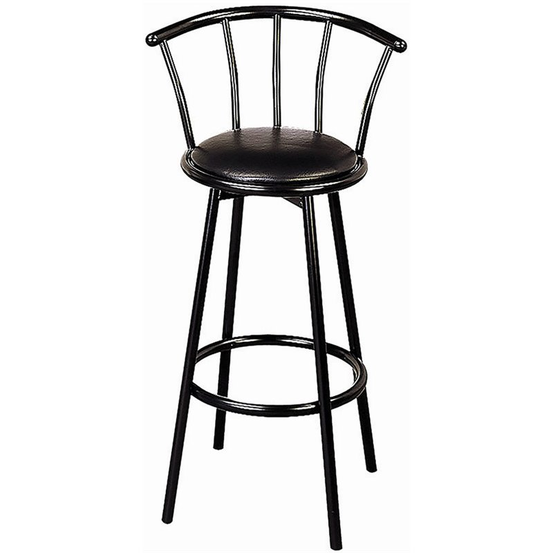 Coaster Dixie Upholstered Swivel Black Bar Stool Ebay