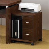 Coaster Peel 2 Drawer Computer Stand in Brown