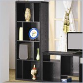 Coaster Bookcases Contemporary Asymmetrical Bookcase in Black