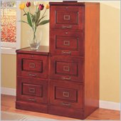 Coaster Palmetto Cherry File Cabinet with 4 Drawers