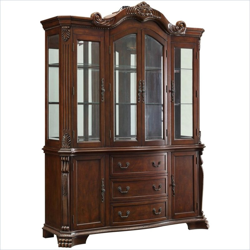 Coaster Marisol Buffet and Hutch with Ornate Carved Detailing at Sears.com