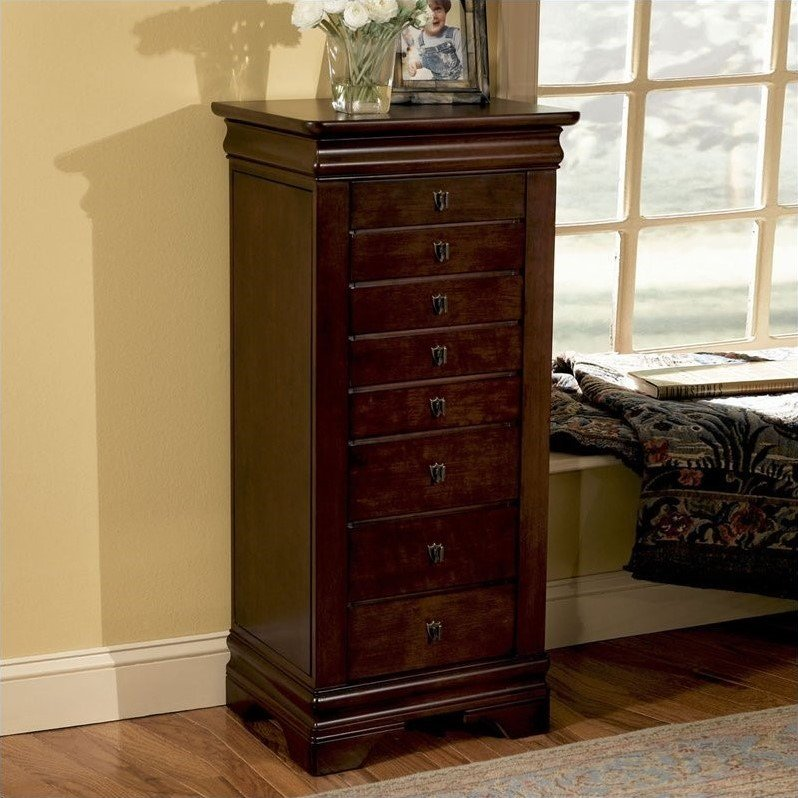 Powell Furniture Louis Philippe Marquis Cherry Jewelry Armoire at Sears.com