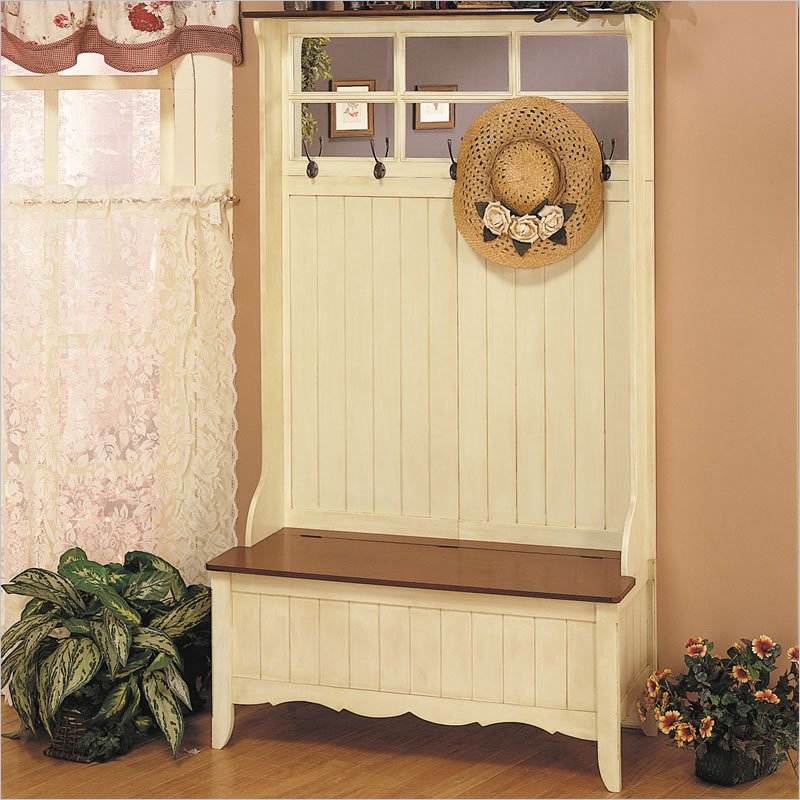 Powell Furniture French Country W Storage Bench Hall Tree