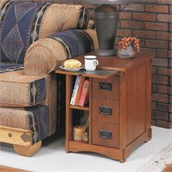 powell mission oak magazine end table