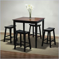 Powell Furniture Antique Black Counter Height Dinning Set