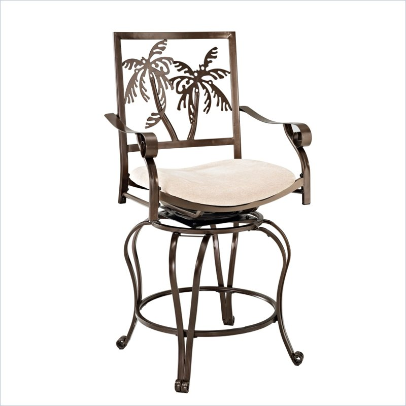 about powell furniture big tall palm tree counter w arms bar stool