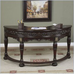 Powell Furniture MasterpieceWood Hunt Writing Desk in Faux Mahogany