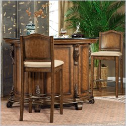 Powell Bourbon Street Cherry Swivel Barstools
