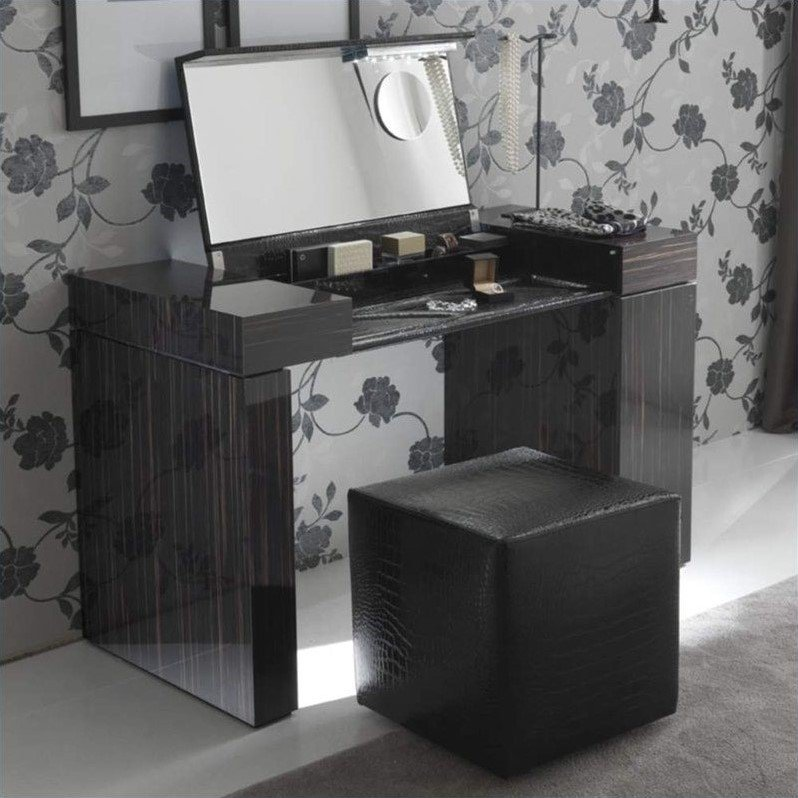 Rossetto Nightfly Dressing Table in Ebony at Sears.com