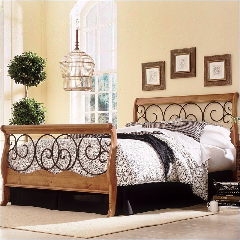 Fashion Bed Dunhill Wood Footboard in Honey Oak Finish - King at Sears.com
