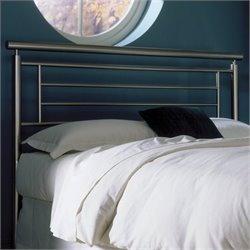 Fashion Bed Group Chatham Metal Headboard in Satin Metal Finish